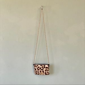 Like New Alexis Hudson Leopard Crossbody Bag